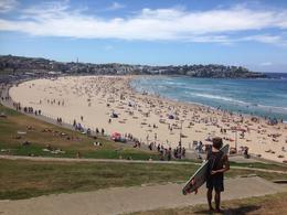 Looking at Bondi Beach , M B - October 2016