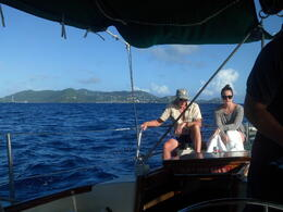 Fellow passengers enjoying the passage from St. Thomas to St. John. , Anthony S - December 2014