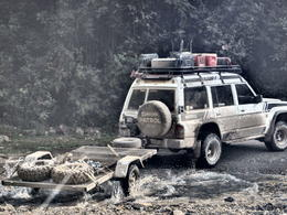 Off-road vehicle driving the road, Bandit - September 2014