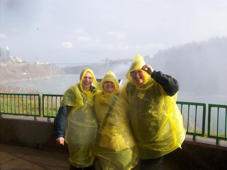 Getting wet at Niagara Falls - New York City