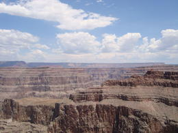 View just to the right of the Skywalk Bridge of the Grand Canyon , Jessica - July 2013
