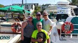 Me, my honey Brad, Capt John and Ms Alisha , Gina B - September 2015