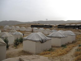 stayed in Bedouin camp tents which were really wood structures with cots inside. Warm and toasty. Nearby building had hot showers and bathroom facilities , Amanda B - June 2015