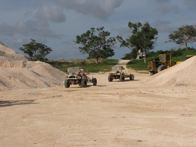 Riding dune buggys in Punta Cana - Caribbean