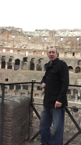 Mark soaking up the ambiance of Rome., Sheena H - November 2008