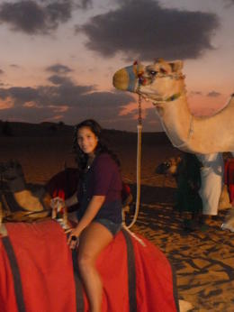My 14 yr. old daughter enjoying the camel rides. , Monica R - November 2011