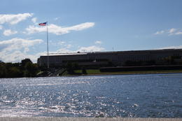 Lunch was served on a boat ride on the Potomac. At the end of the river is the Pentagon building. , Sherry G - October 2014