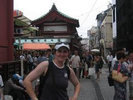 Me at Nakamise Shopping Street in Asakusa., Edyta R - August 2008