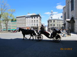 What a beautiful day for a ride in Quebec's old city. , Sue B K - May 2012