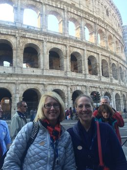 Getting ready for our Viator tour at the Colloseum and Forem , Katherine K - November 2015