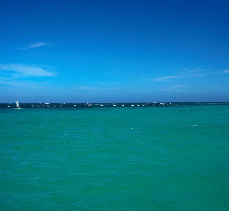From snorkel cruise boat, Bavaro coastline - Punta Cana