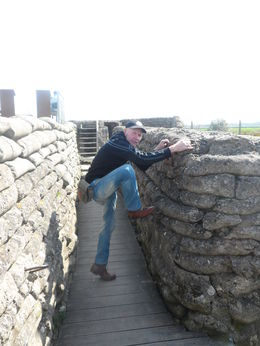 This is Steve at the trench of death going over the top!! , KATIE T - April 2015