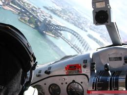 Taking a loop over Sydney Harbour before landing. Spectacular views., Christine A - November 2008