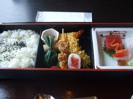 Beautiful and delicious traditional Japanese lunch on the Mt Fuji day tour, Melanie L - September 2009