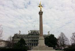 This photo was taken when we were near the White House , Jennifer O - April 2014