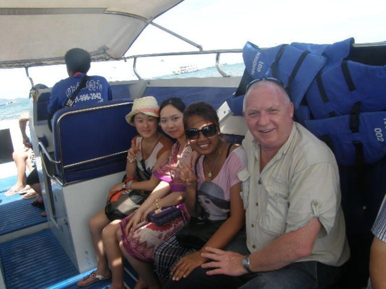 On board the speedboat heading off to Coral Island - Pattaya