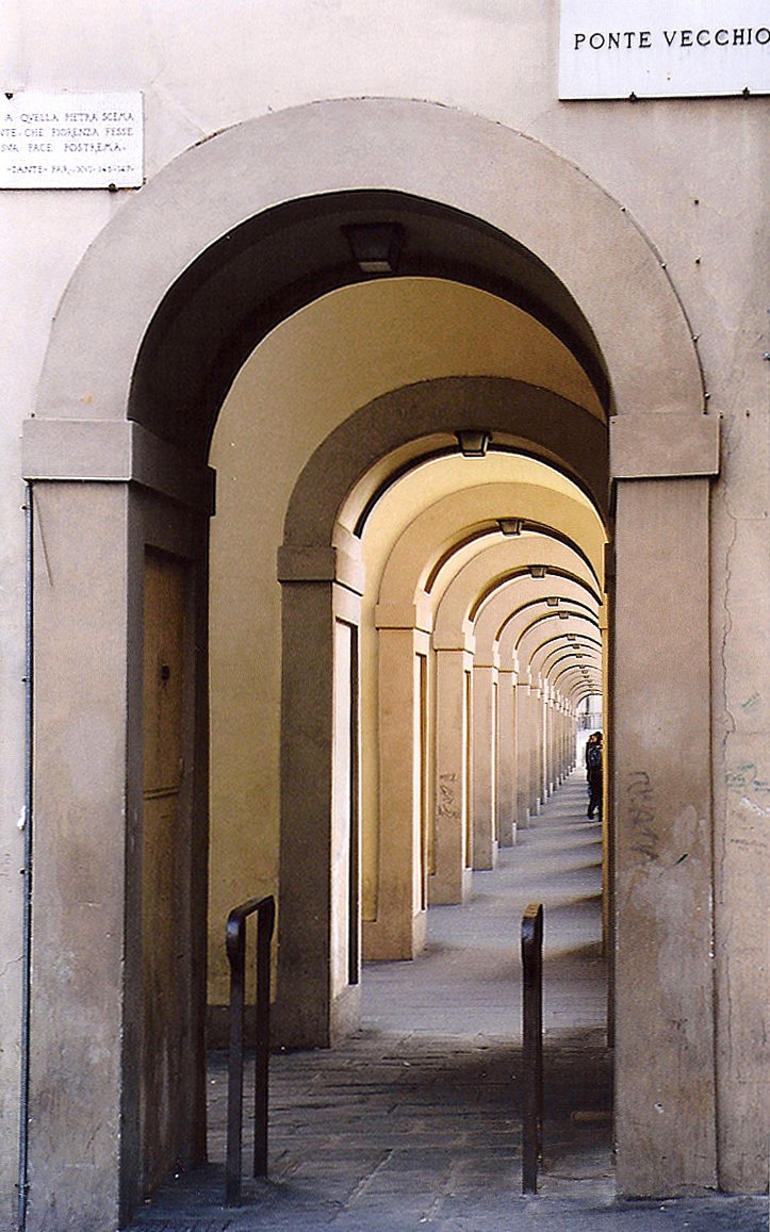 Ponte Vecchio Arched Walkway - Florence