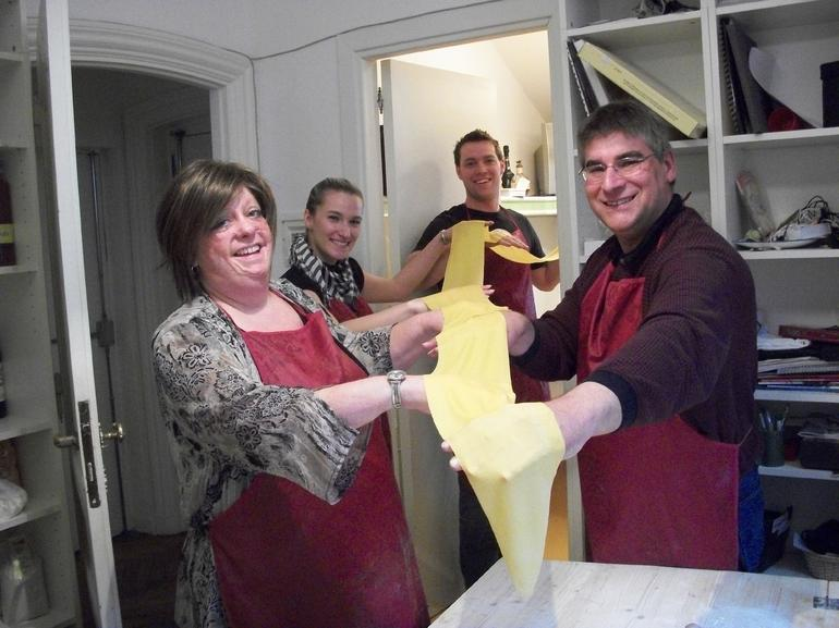 Ravioli making is a group effort! - Rome