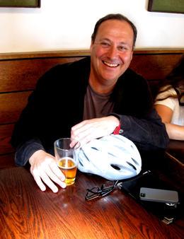 Relaxing after biking around SF, Viator Insider - June 2014
