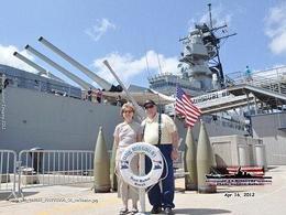 The Potter's touring the USS Missouri April 2012 , Janey P - April 2012
