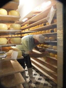 Turning cheese in Volendam , Richard M - August 2013
