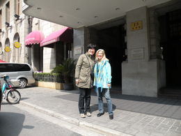 Zhao Ye and myself in front of the Astor Hotel after the half-day tour. , Linda M - March 2015