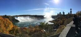 The U.S. American Falls with the Canadian Horseshoe in the distance , Gene F - November 2016