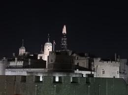 The Tower of London with the Shard building in the background , Nana - May 2017