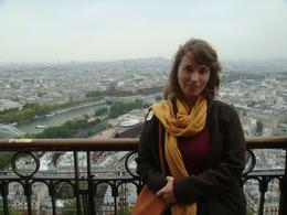 Me on the 2nd level of the Eiffel Tower, overlooking the city., HEATHER E - October 2010