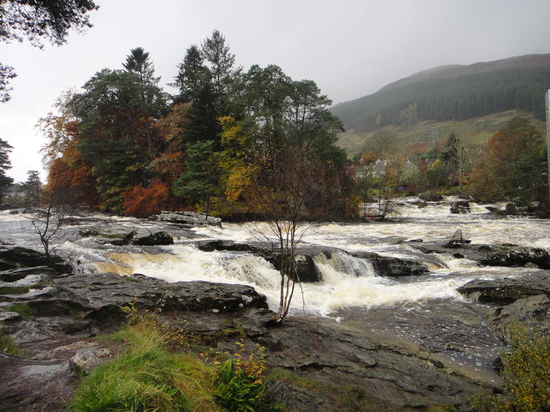 A gushing river in the highlands - Edinburgh