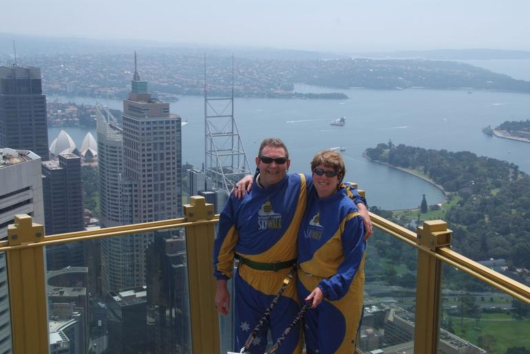Anne & Gordon enjoying the views from Skywalk - Sydney