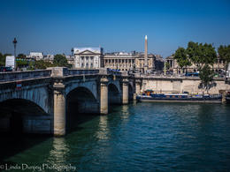 Pont de la Concorde - from the Left Bank of the Seine to the Right and the Place de la Concorde where the guillotine was situated during the Reign of Terror think Marie Antoinette and Louis XV1. , lindadunjey - August 2016