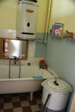 Bathroom used during the communism era. Everything is old as it was. - October 2008
