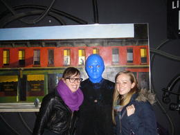 With one of the Blue Men himself!, Laura All Over - April 2014