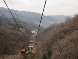 Cable car ride up to higher section of Great Wall at Mitianyu , Kimberly G - March 2011