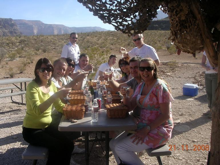 Champagne lunch in the Grand Canyon - Las Vegas