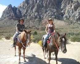 Lottie & Phil from Gloucestershire & Hampshire UK. Lottie wanted to start her 30th birthday with a bit of gentle western riding, also great views and great food to go with it!, Charlotte P - October 2010
