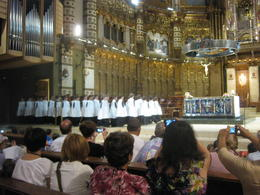 The choir singing at 1pm , sj - July 2012