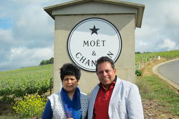 Dilip and Mrunalini at the Moet and Chandon Vineyards - Champagne Region , Dilip K - June 2014