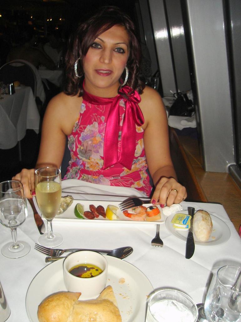 Mira having dinner - Sydney