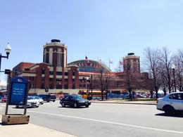 View of Navy Pier entrance from the hop on hop off stop , Kassie D - May 2014