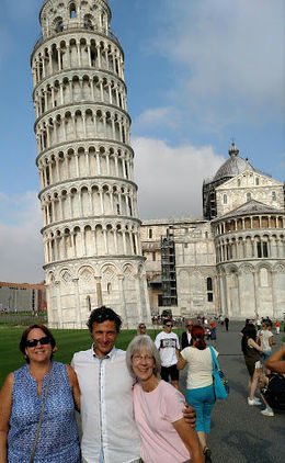 Pisa with our driver Alesandro. , Cynthia N - August 2016
