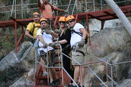 Our group, excited to zipline over the Costa Azul Canyon - March 2010