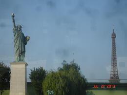 Statue of Liberty and Eiffel Tower are actually far apart, but got both in this photo. , Thomas B - August 2013