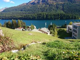 St Moritz Lake with a few windsurfers on. , Jamie W - October 2014