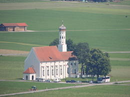 St. Coloman's Church viewed from Neuschwanstein , Kevin F - August 2013