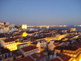 View from Elevador de Santa Justa, Lisbon, Cat - January 2012