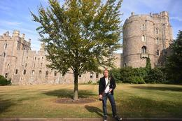 Photo of my husband outside of Windsor on a summer day. If it were this pretty before we went in, what more when we explored the inside. , Arlene H - September 2016