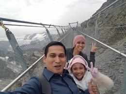 I, Mohammed Monirul Islam and my family crossing suspension bridge in Titlies , MOHAMMED MONIRU I - August 2017