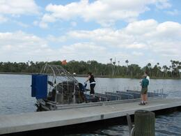 This is the airboat for the Everglades tour, Matt S - March 2008